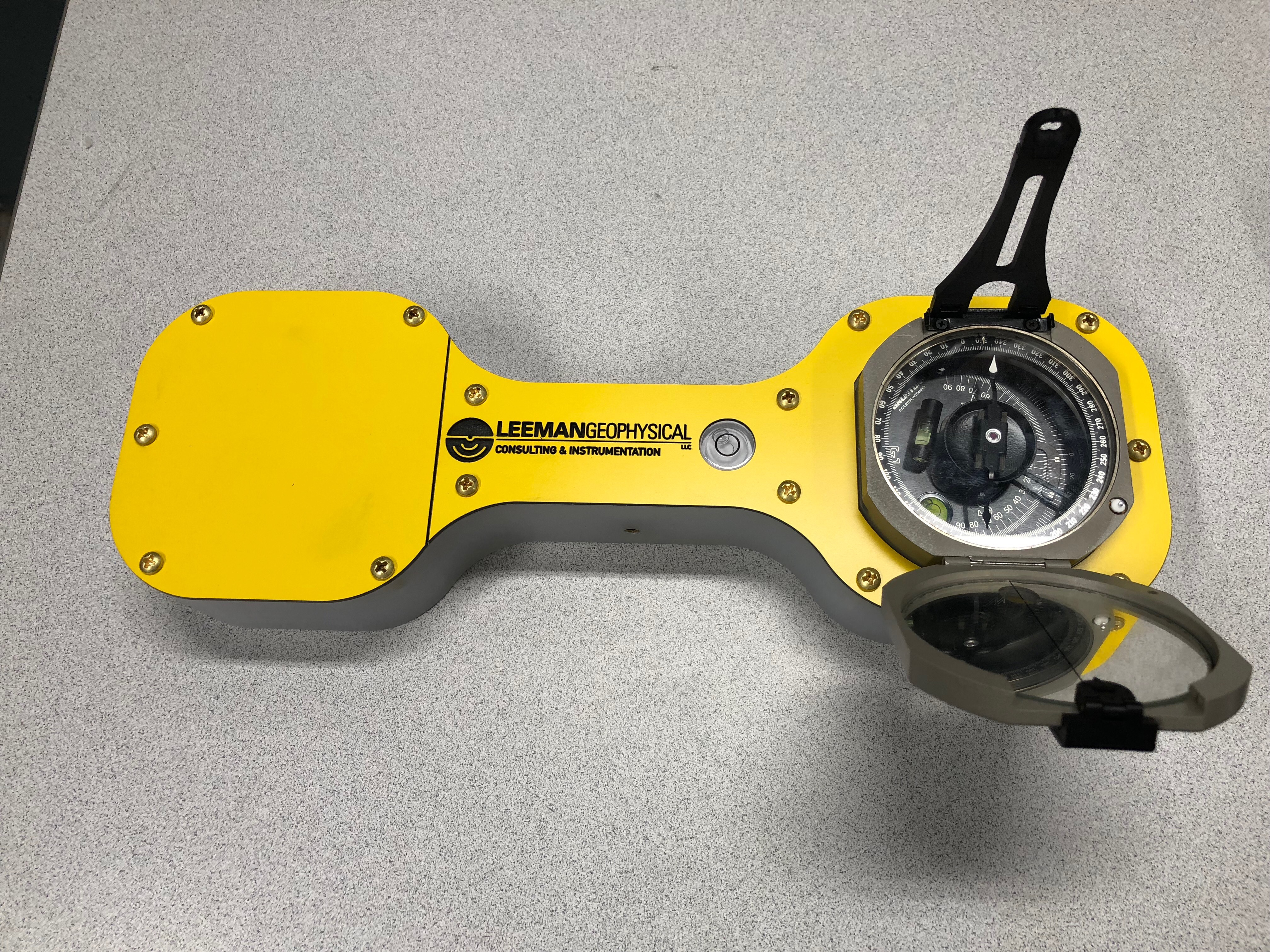 View of the tool with compass installed