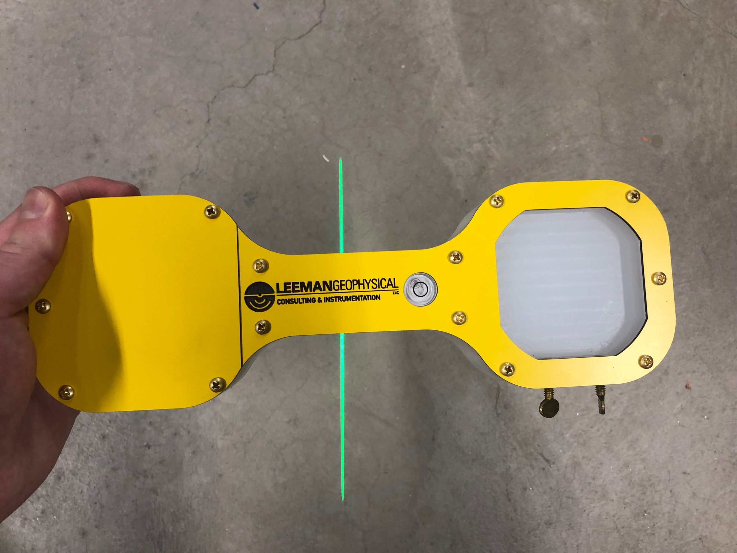 Orientation tool with laser on