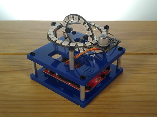 Blue 3D Compass