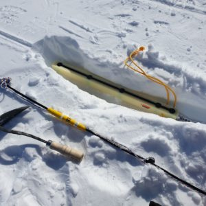 Georod V1 in Snow with Deployment Tools
