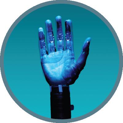 robot hand waving