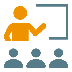 Icon of person teaching